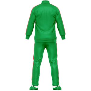 mens green tracksuit set backside