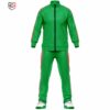 mens green tracksuit set