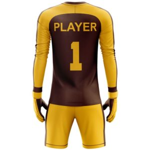 top best soccer goalkeeper uniform backside