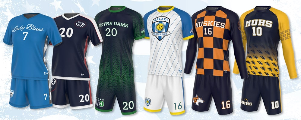 soccer uniform kits